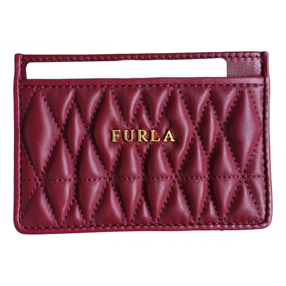Furla N Burgundy Leather Purses, wallet & cases for Women N