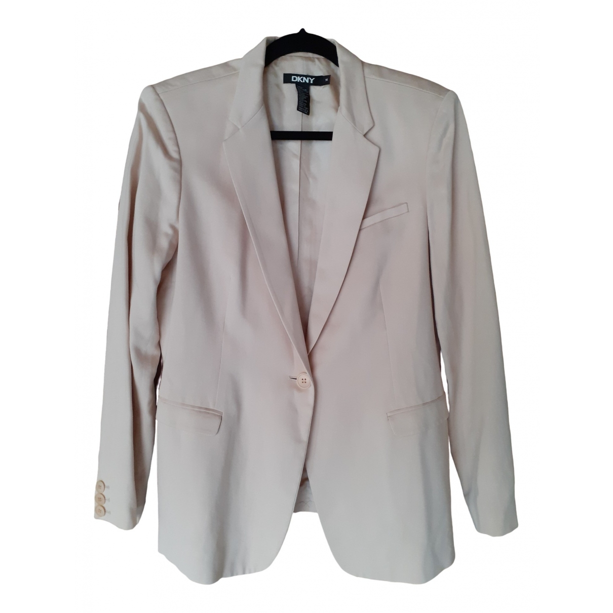 Dkny \N Ecru Cotton jacket for Women 14-16 US