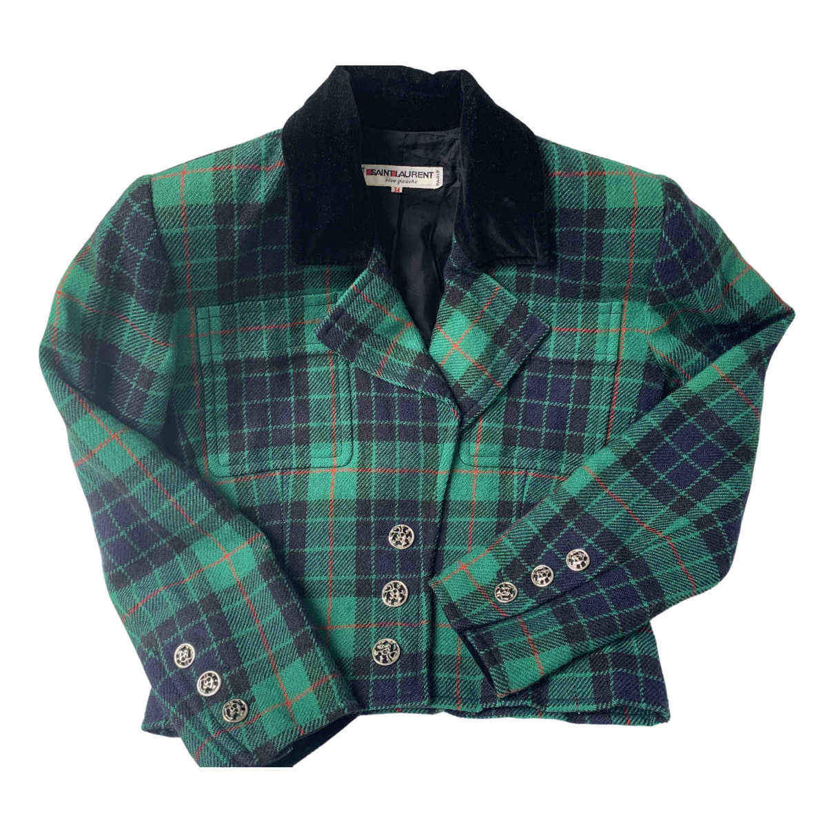 Yves Saint Laurent \N Green Wool jacket for Women 34 FR