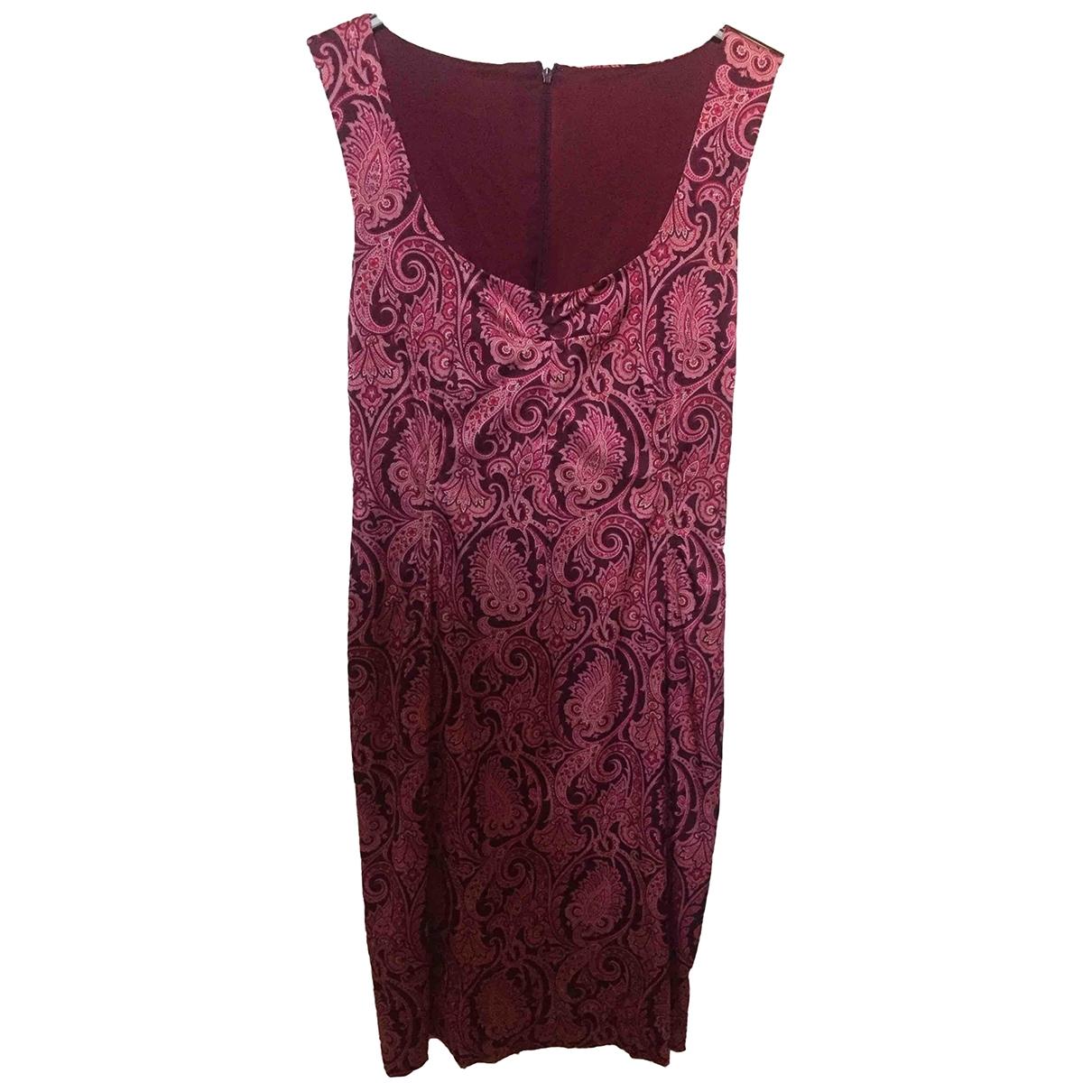Dolce & Gabbana \N Burgundy Silk dress for Women 40 IT
