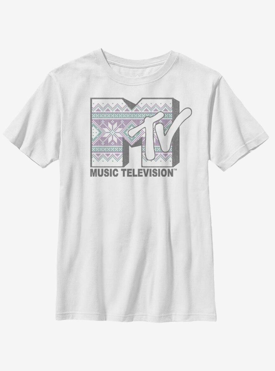 MTV Cross Stitch Logo Youth T-Shirt