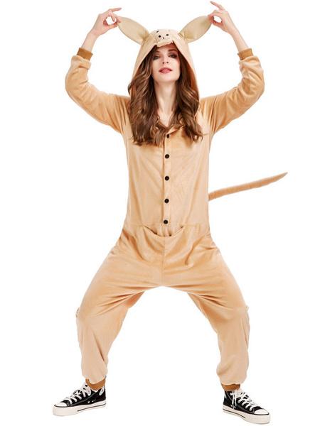 Milanoo Pijamas Kigurumi Onesie Canguro Adultos Unisex Franela Invierno Ropa de dormir Disfraz Cosplay Halloween