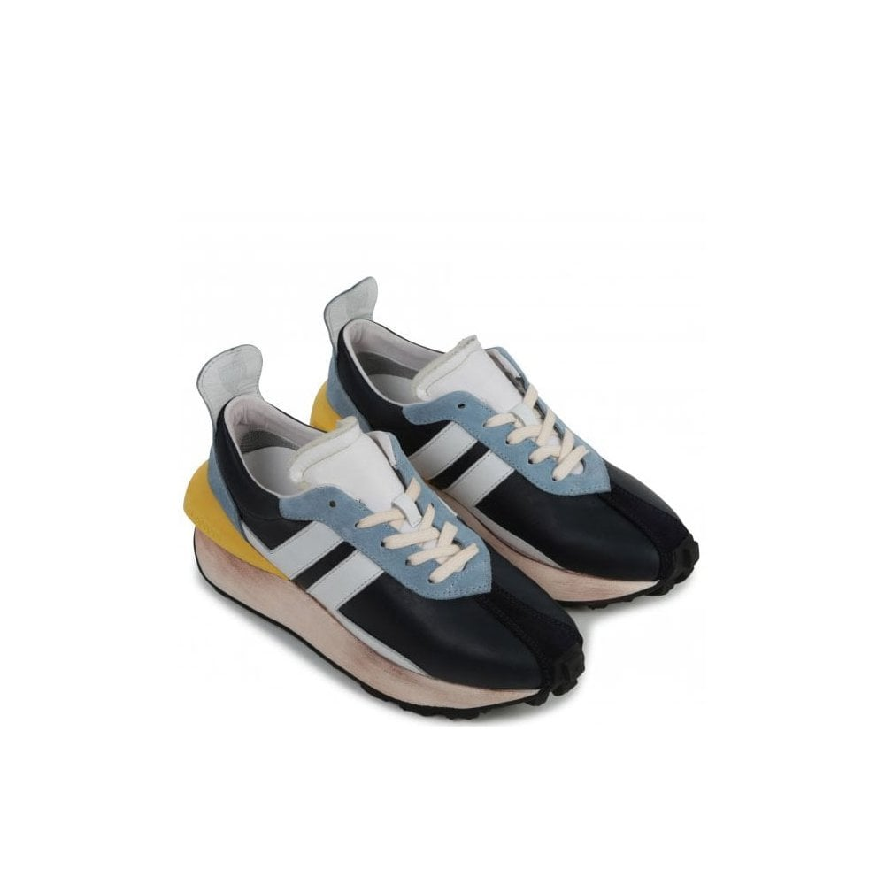 Lanvin Kids Runners Size: 36, Colour: NAVY