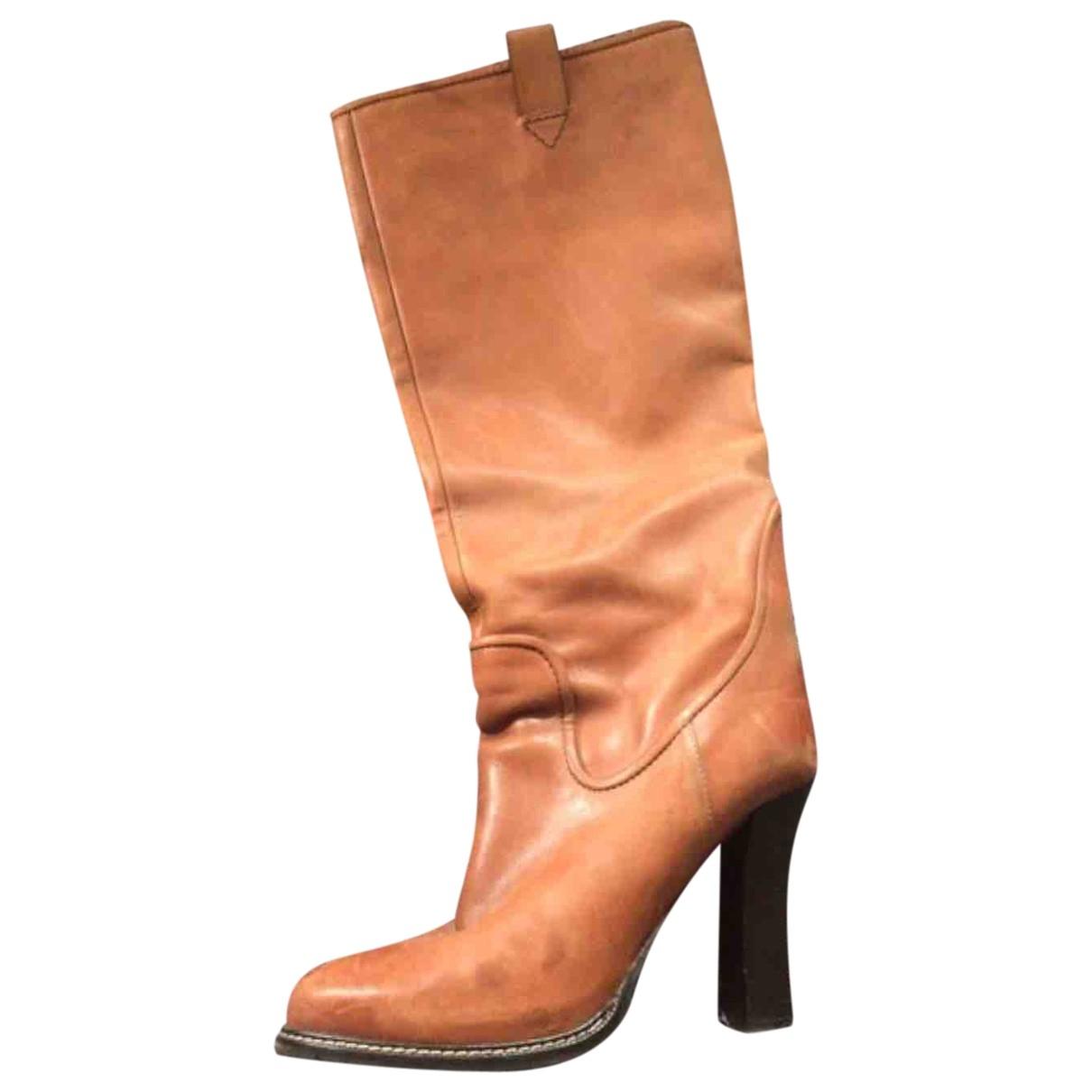 Boss Orange - Bottes   pour femme en cuir - beige