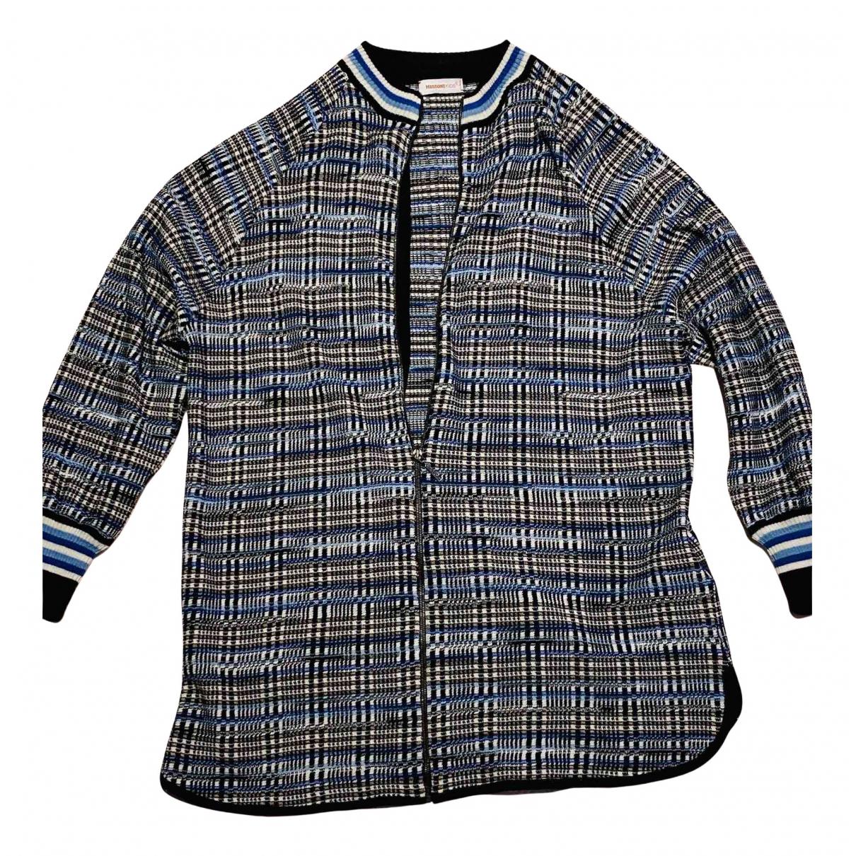 Missoni - Blousons.Manteaux   pour enfant en laine - multicolore