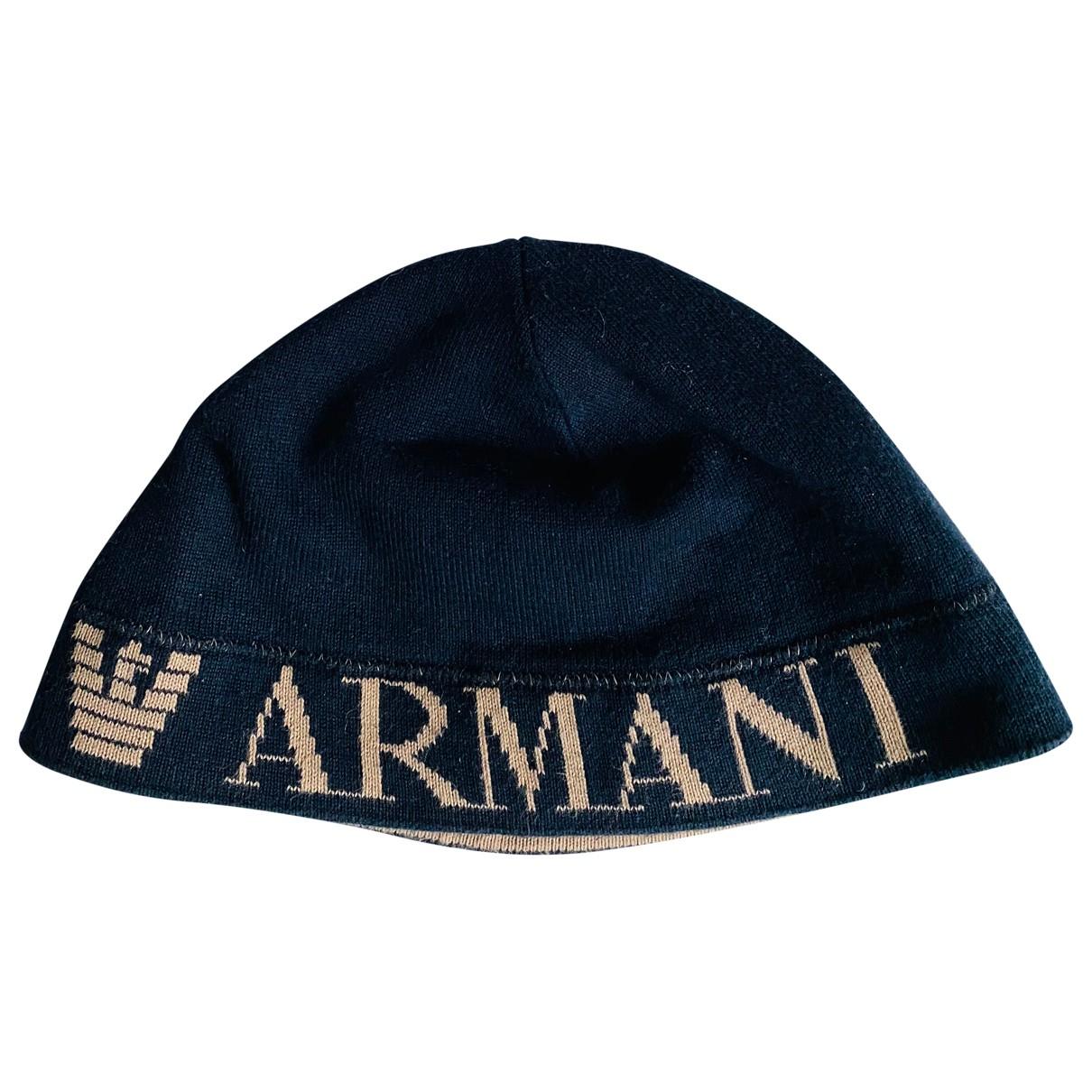 Emporio Armani \N Hut, Muetzen in  Blau Baumwolle