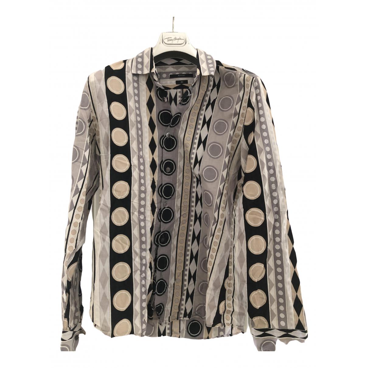Gucci - Chemises   pour homme en coton - gris