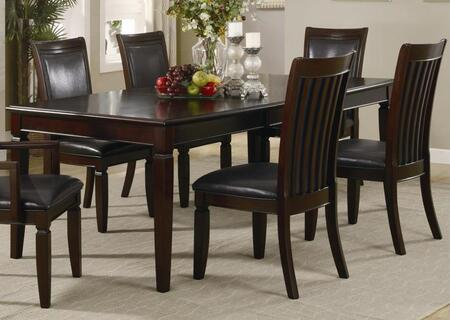 Ellington Collection EL345T Dining Table with 4 Legs and Wood Top in Espresso