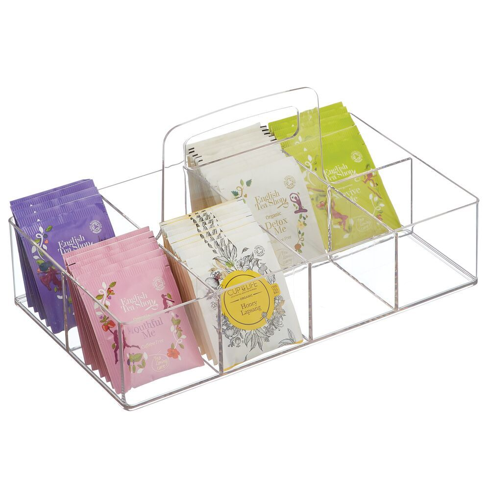 8 Compartment Tea Bag Holder and Condiment Accessory Bin 11.2
