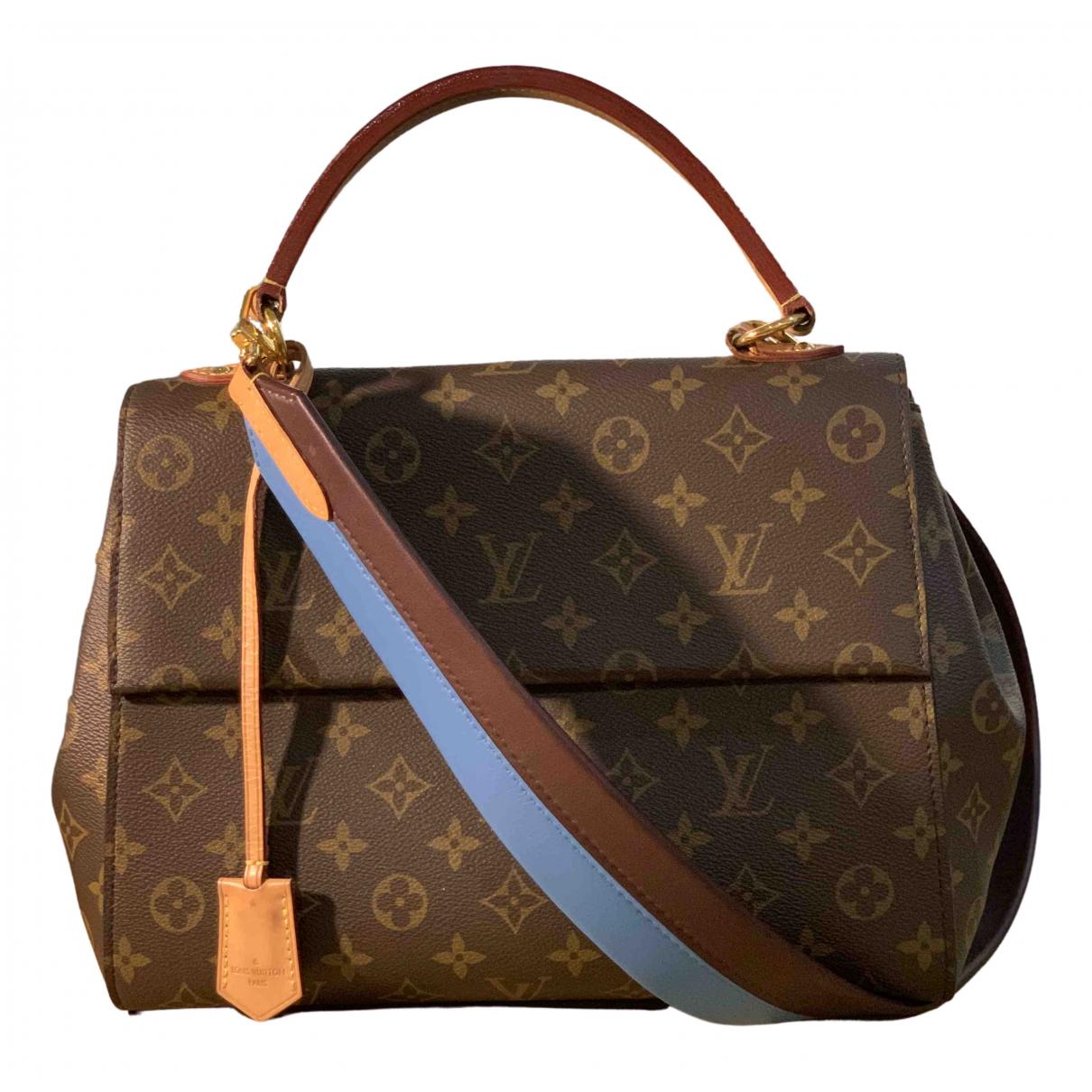 Louis Vuitton - Sac a main Cluny pour femme en toile - marron