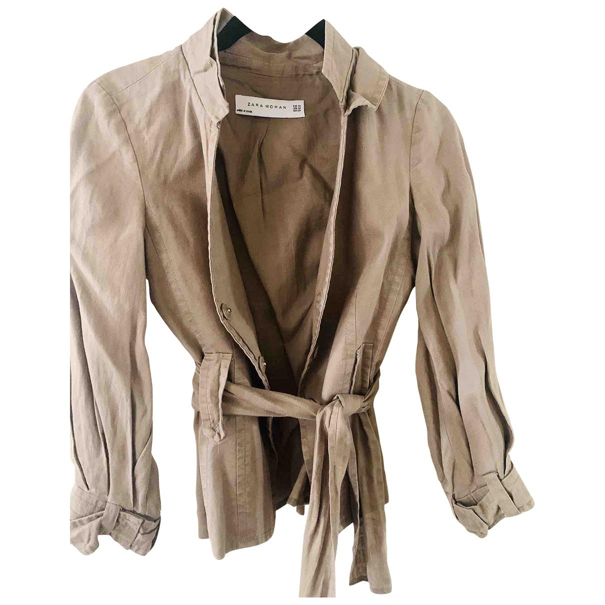 Zara \N Ecru Linen jacket for Women XS International