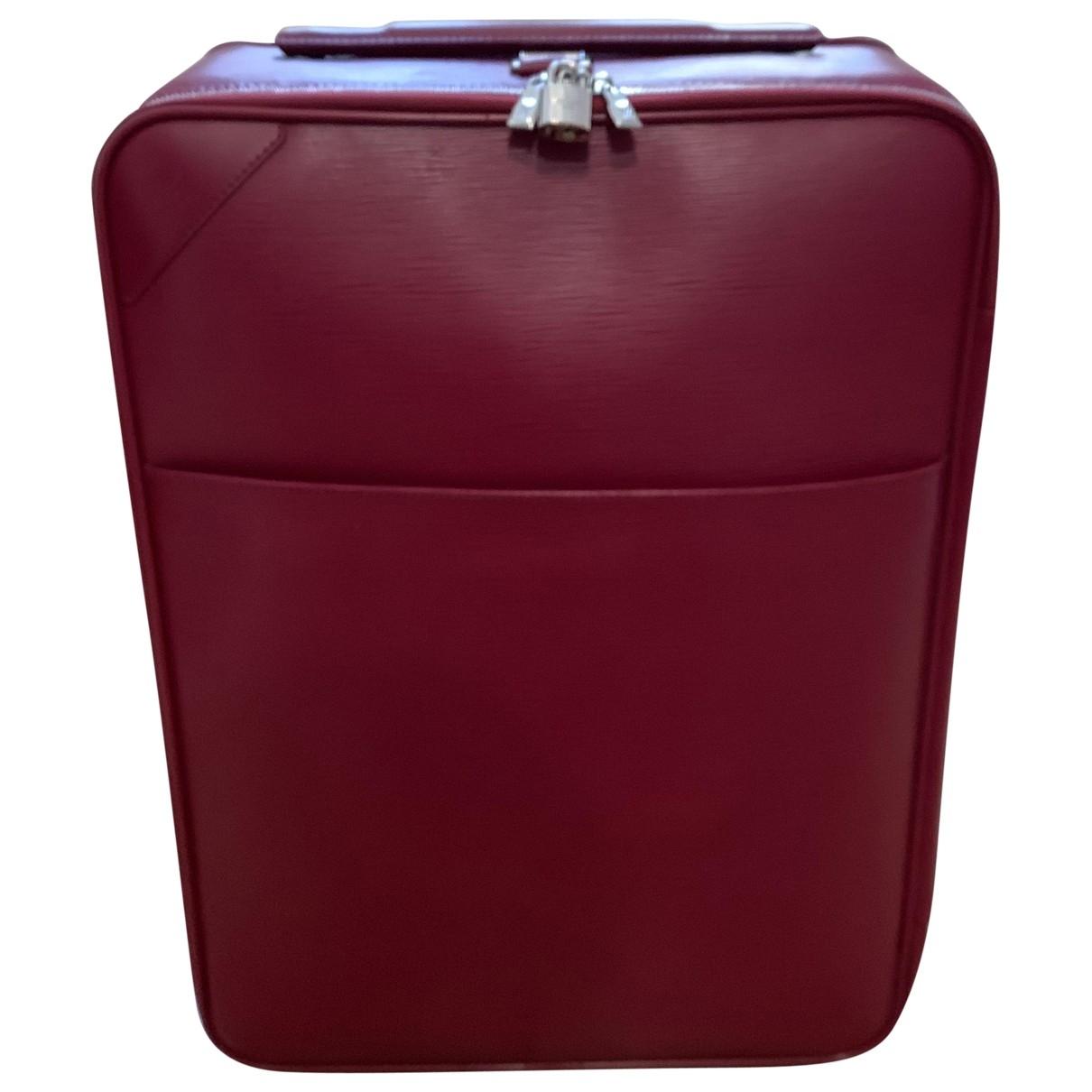 Louis Vuitton - Sac de voyage Pegase pour femme en cuir - rose