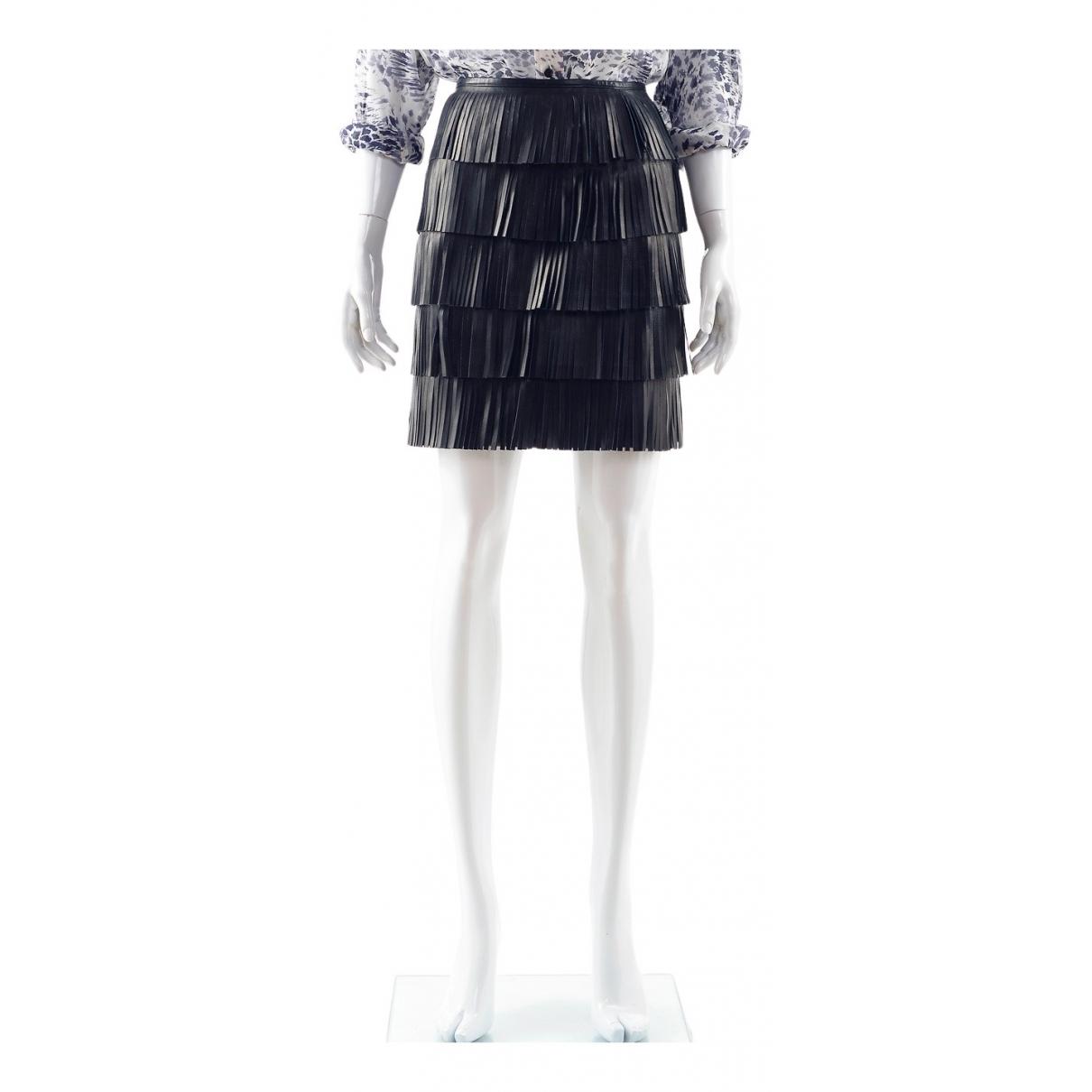 Prada N Black Leather skirt for Women 40 IT