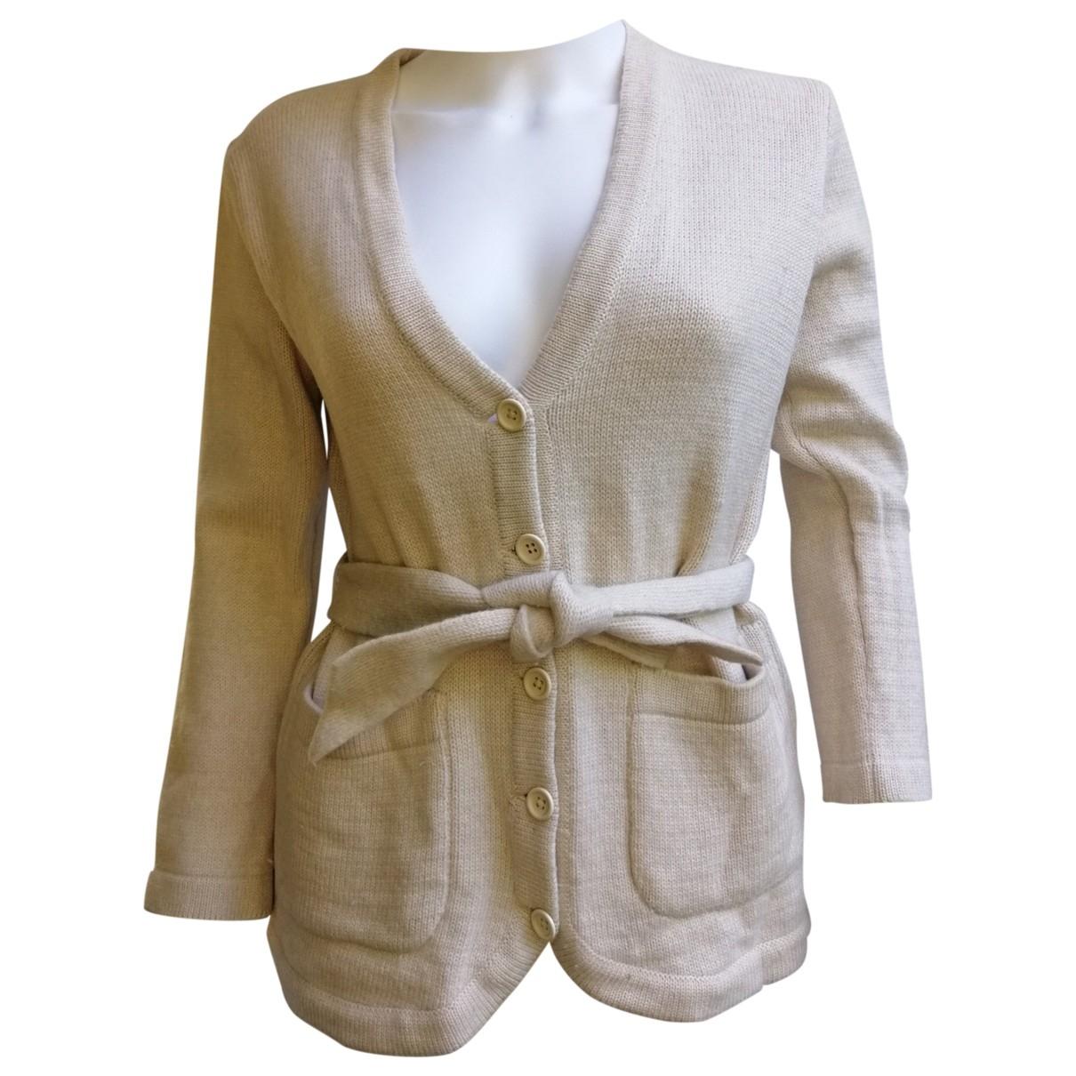 Yves Saint Laurent - Pull   pour femme en laine - ecru