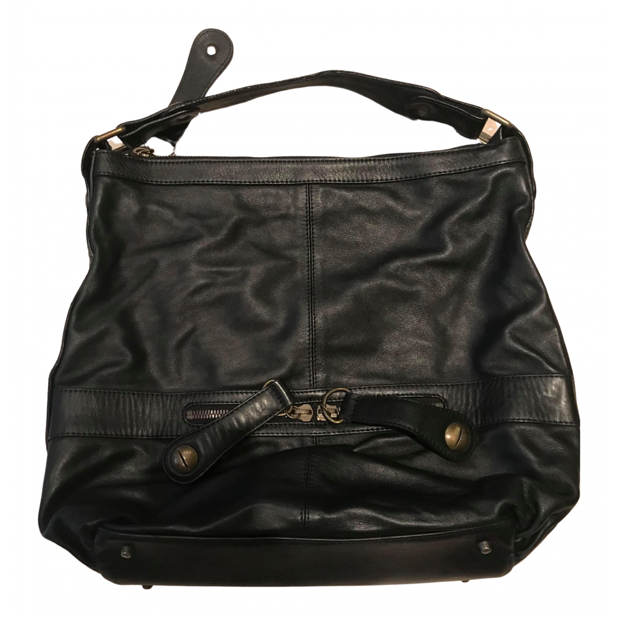 Gerard Darel Midday Midnight Black Leather handbag for Women \N