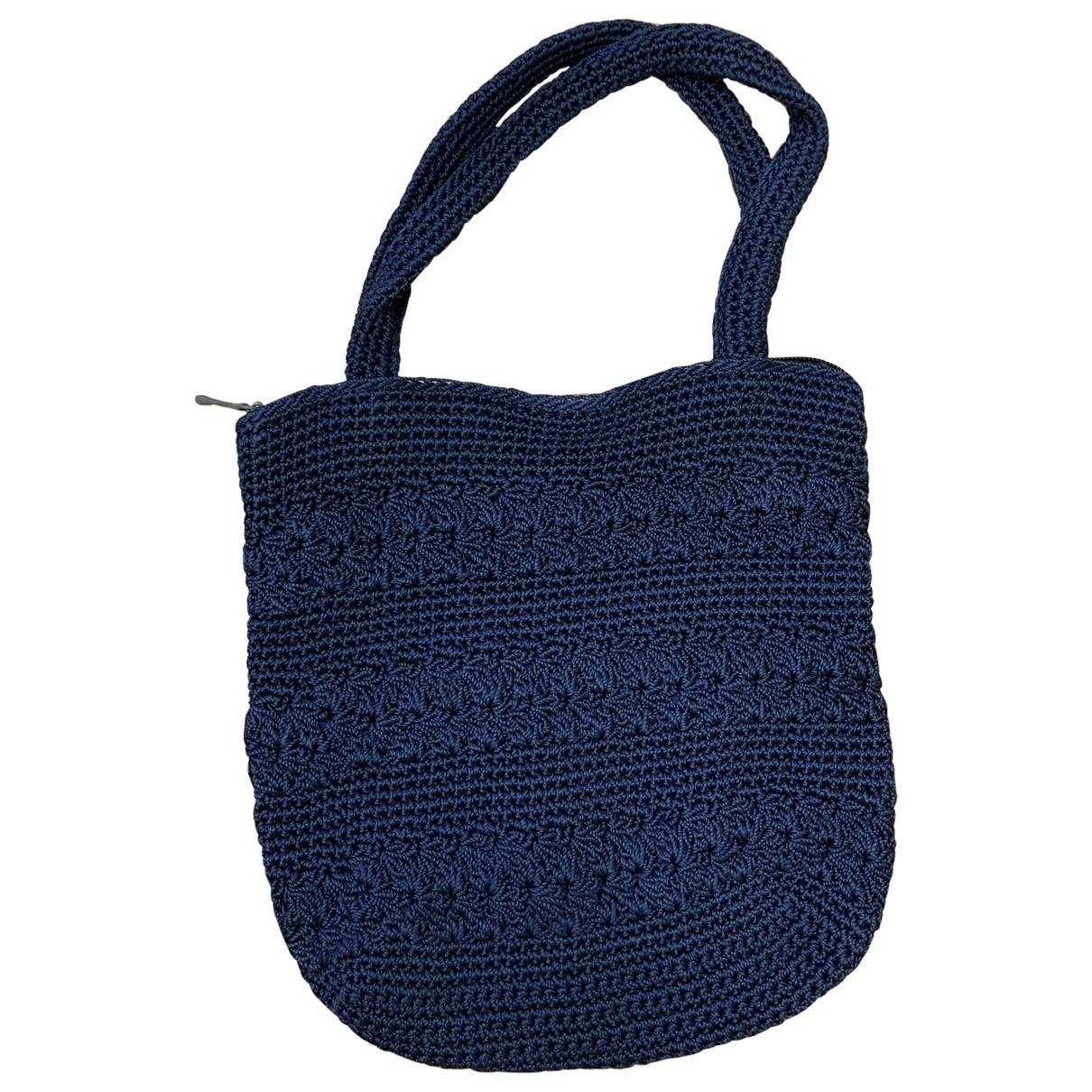 Non Signe / Unsigned \N Handtasche in  Marine Baumwolle