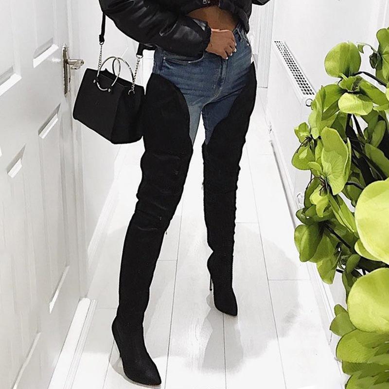 Ericdress Side Zipper Stiletto Heel Women's Thigh High Boots