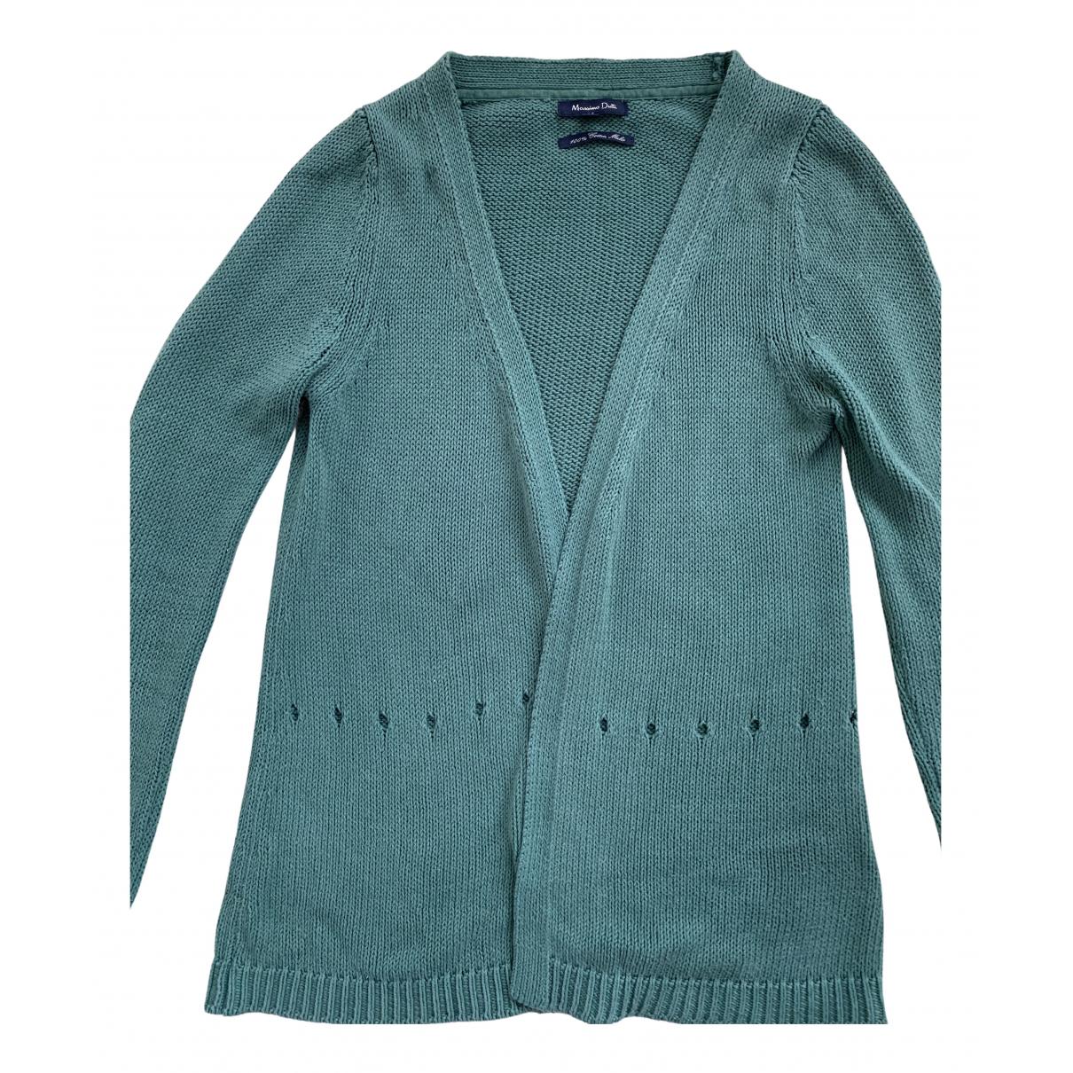 Massimo Dutti - Pull   pour femme en coton - vert