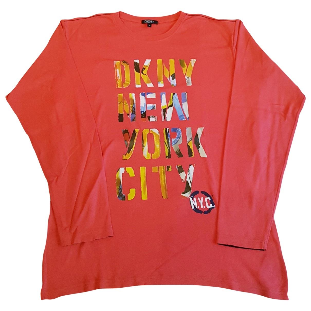 Dkny \N Oberteile in  Rot Baumwolle