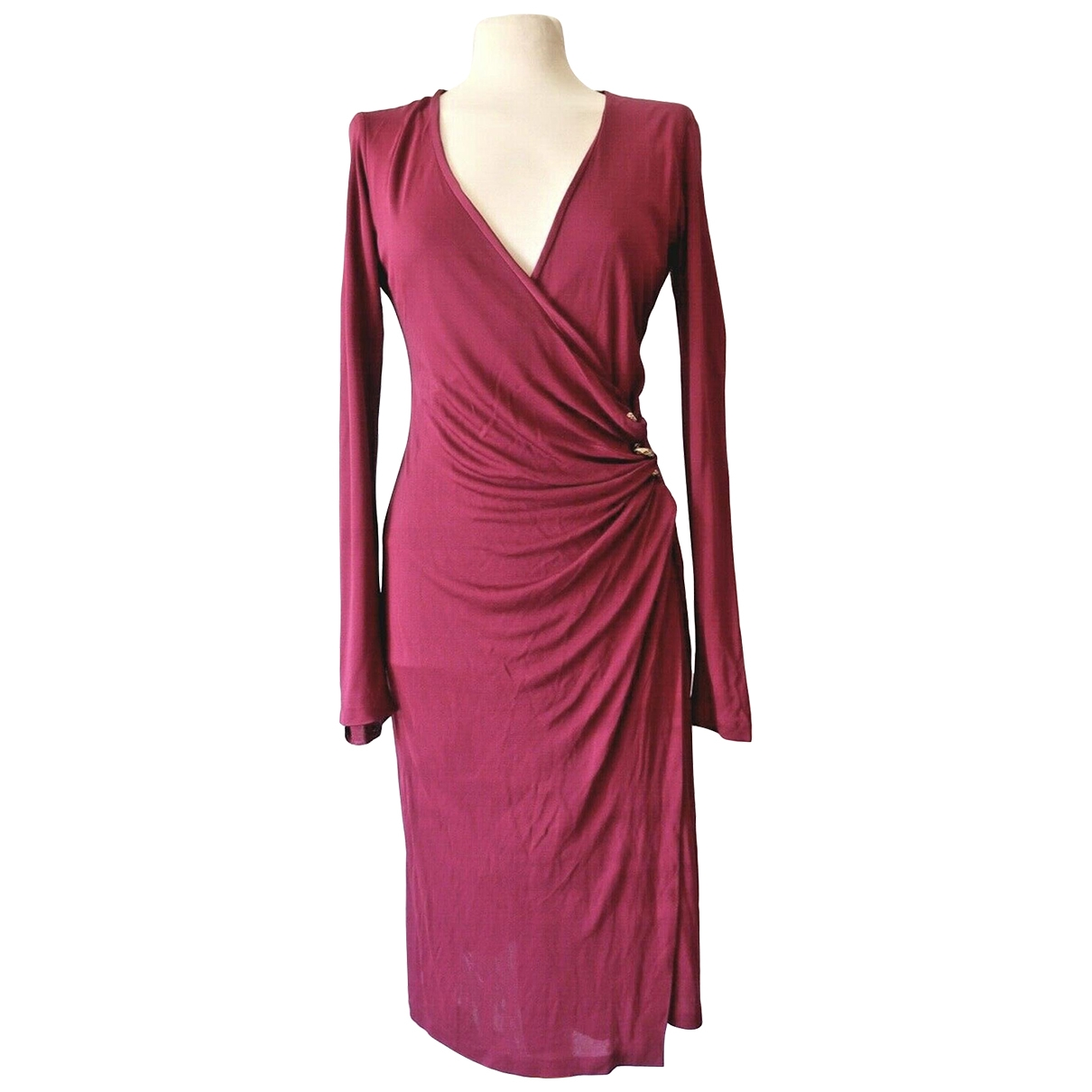 Roberto Cavalli \N Kleid in  Rosa Viskose