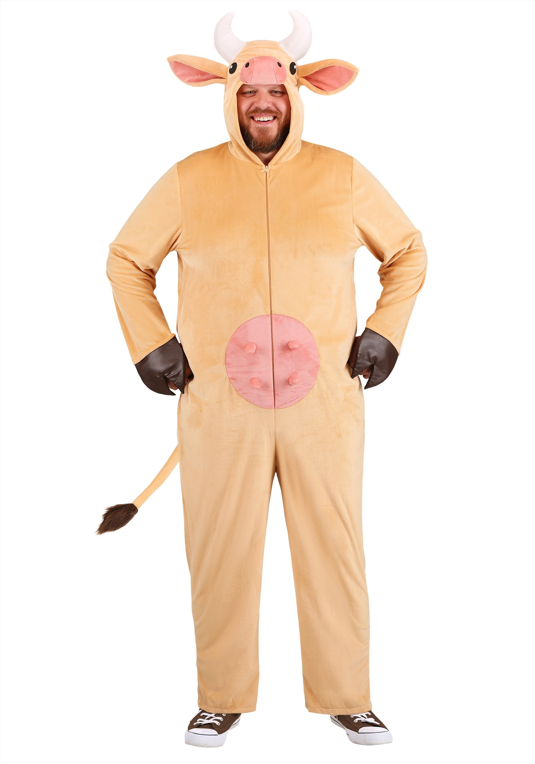 Plus Size Brown Cow Adult Costume
