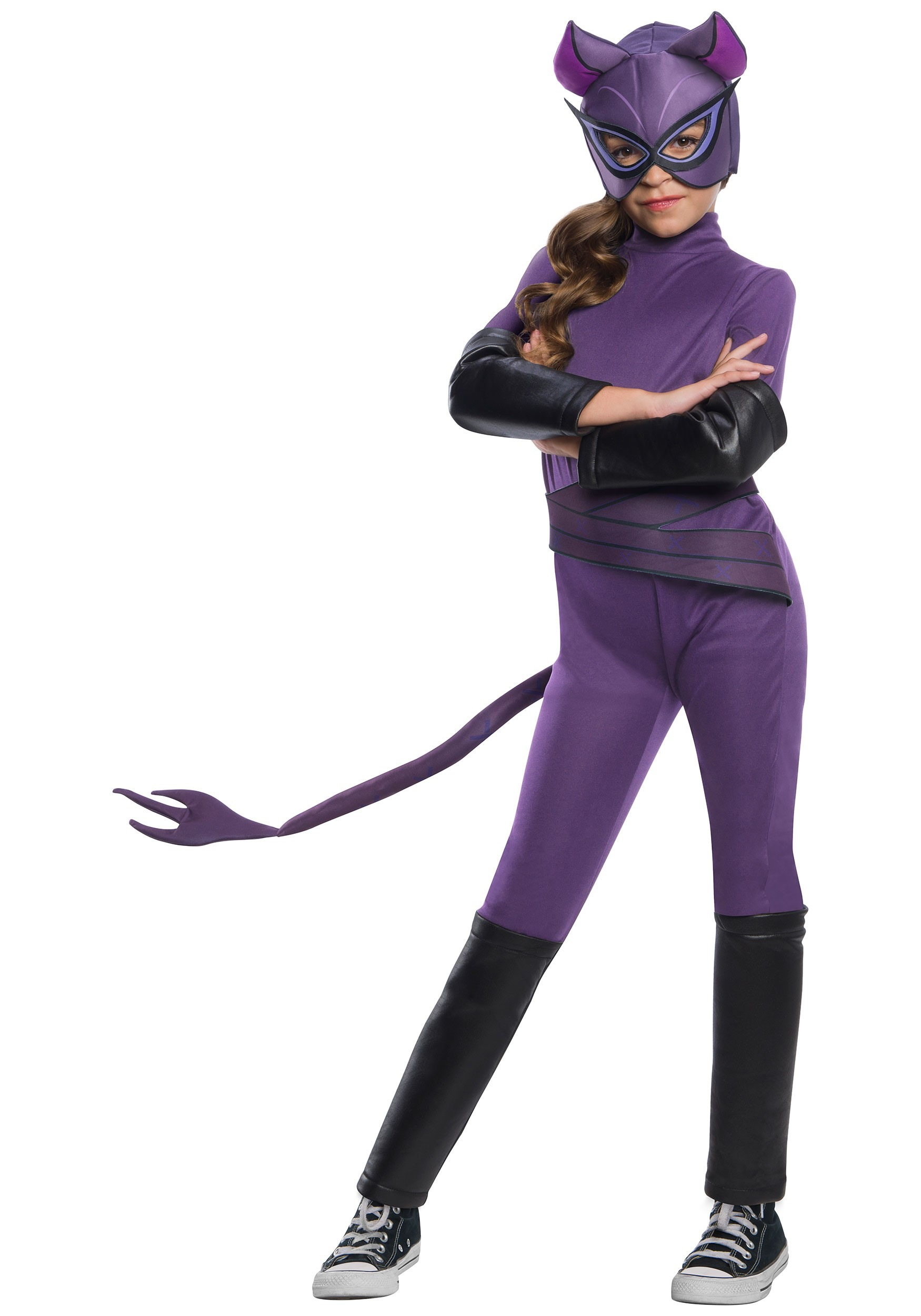 Catwoman Girl's Deluxe Costume
