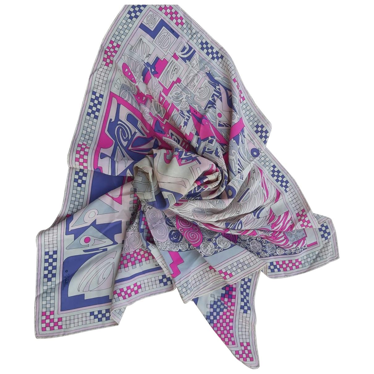 Emilio Pucci - Carre   pour femme en soie - multicolore
