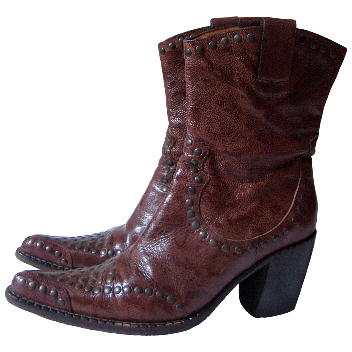 Free Lance \N Brown Leather Ankle boots for Women 39 EU