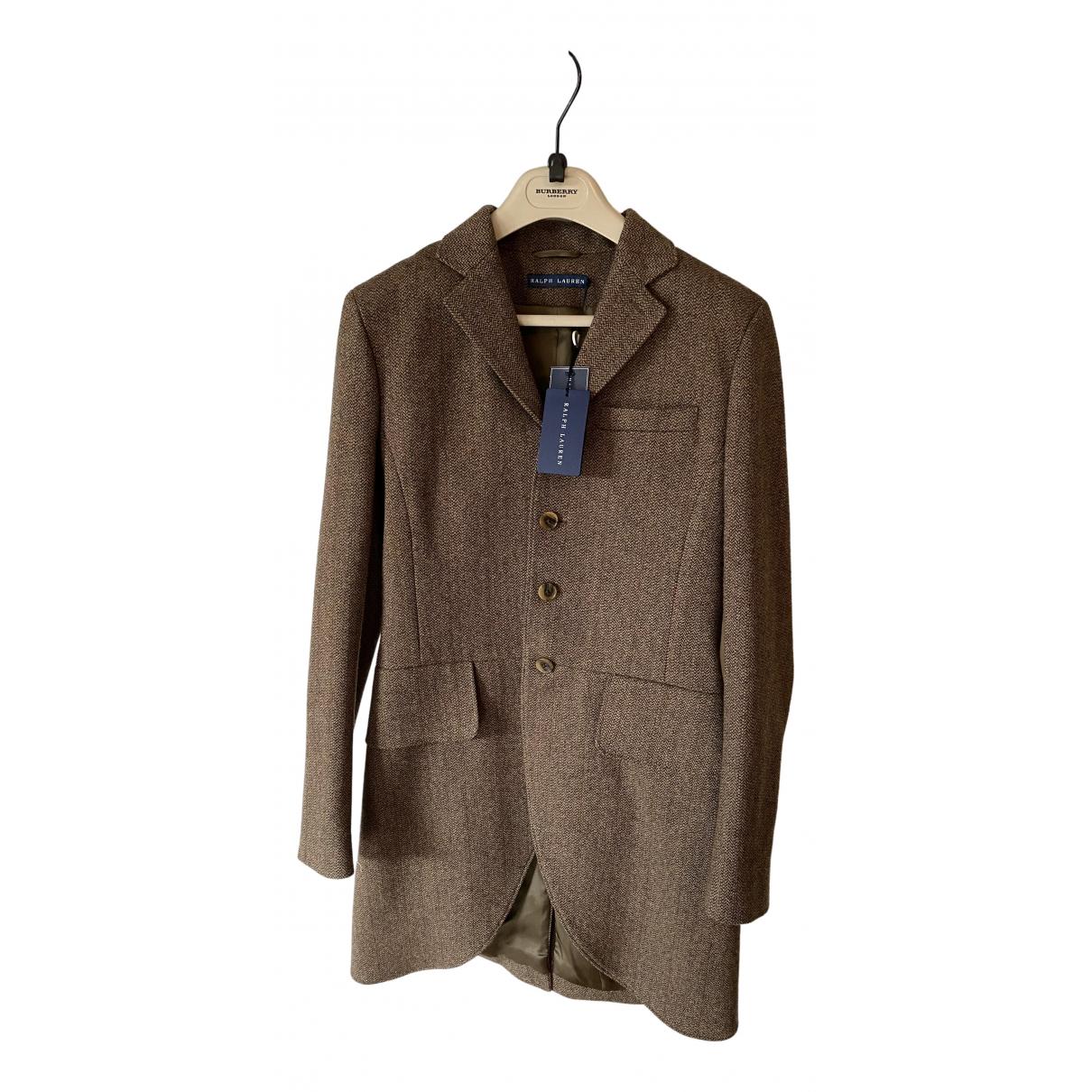 Ralph Lauren - Manteau   pour femme en laine - marron