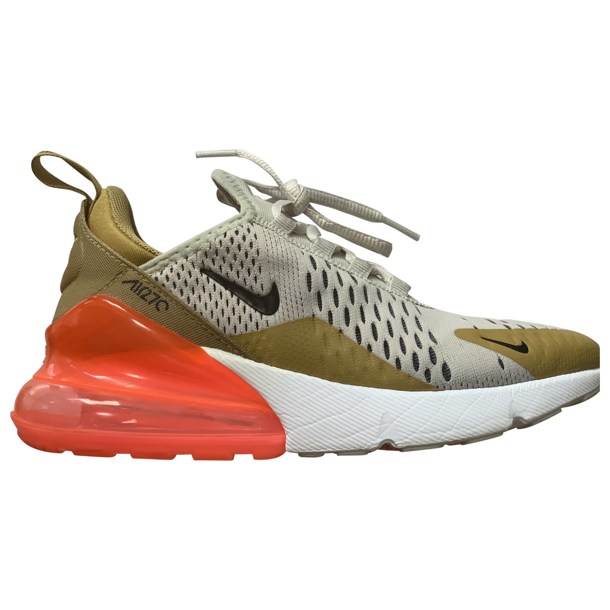 Nike Air Max 270  Gold Leather Trainers for Women 36 EU