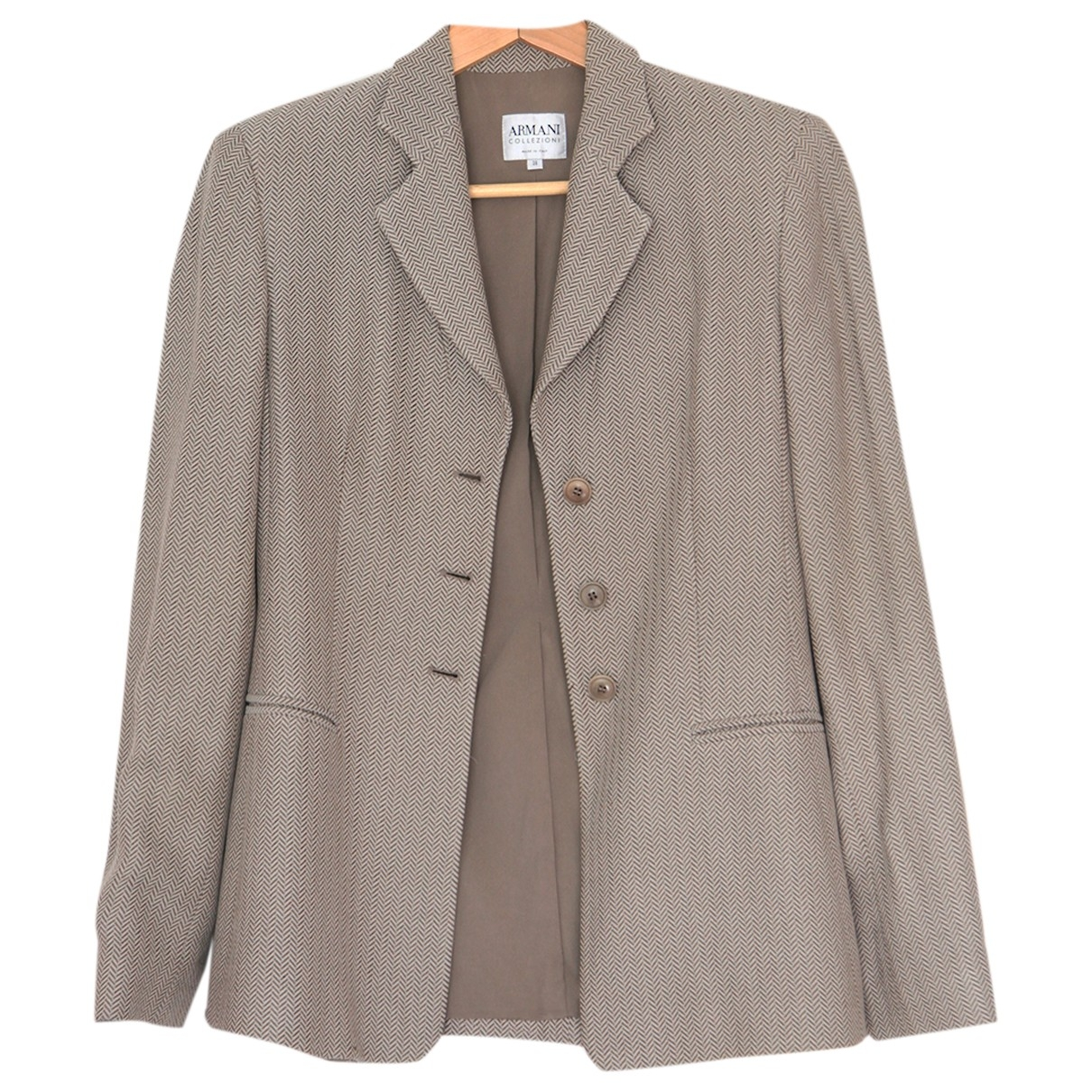 Armani Collezioni \N Grey jacket for Women 38 IT
