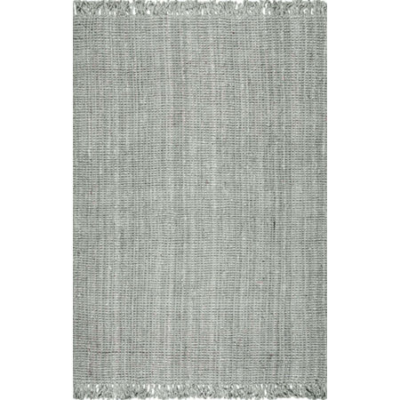 nuLoom Hand Woven Chunky Loop Jute Rug, One Size , Gray