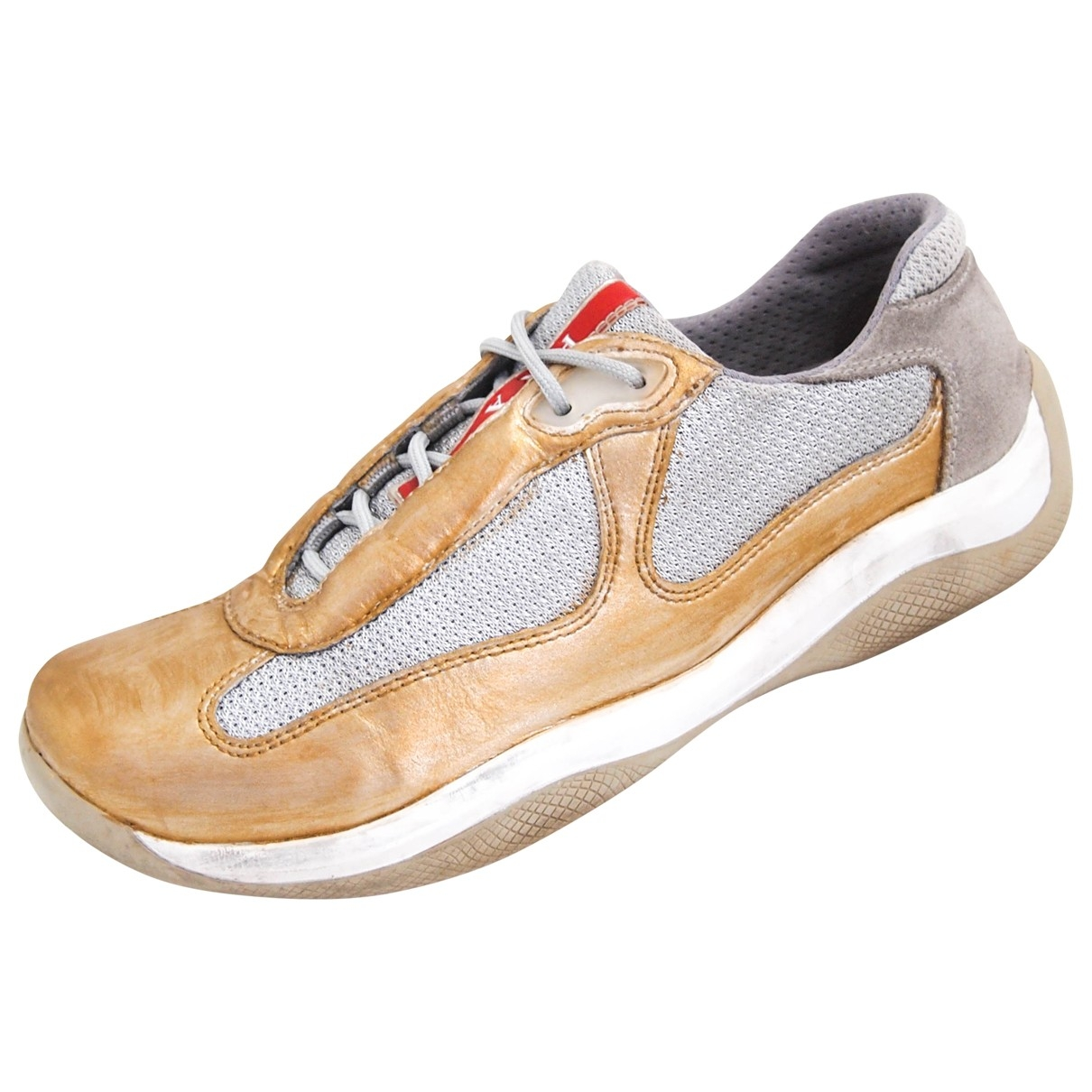 Prada \N Gold Leather Trainers for Women 37 EU