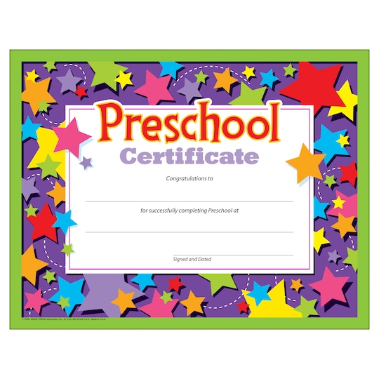 Trend Enterprises® 8.5 X 11 Preschool Certificate, 6 ct Bundle | Michaels®