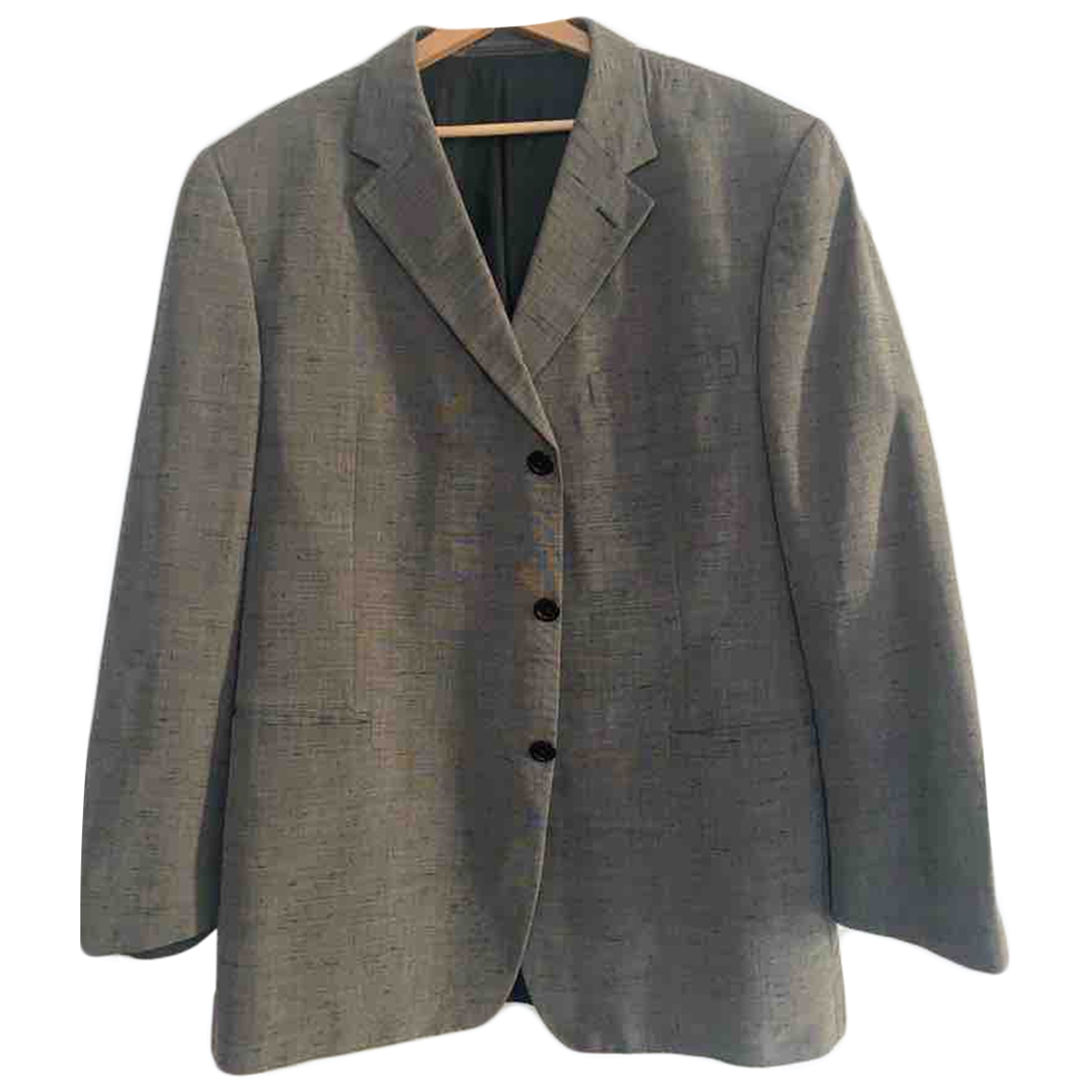 Versace \N Grey Silk jacket  for Men 56 IT