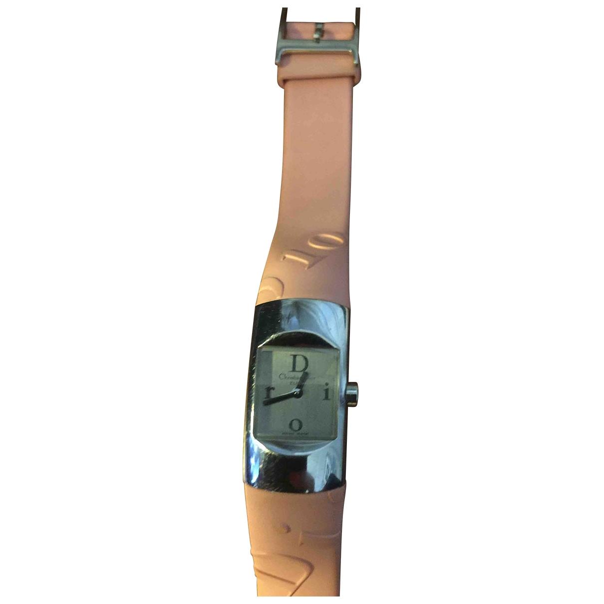 Dior \N Pink Steel watch for Women \N