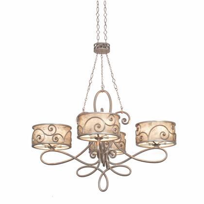 Windsor 5412SV 20-Light Oval Chandelier in Aged Silver with Silver Mica