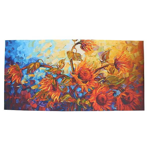 60*120CM Frameless Colorful Flowers Modern Artist Oil Painting Canvas Wall Decor