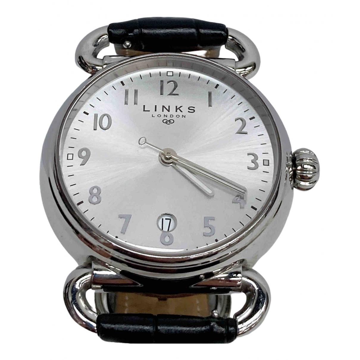 Links Of London \N Uhr in  Silber Stahl