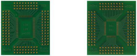 Roth Elektronik Surface Mount (SMT) Board QFP Epoxy Glass Double-Sided 51.1 x 45.8 x 1.5mm FR4
