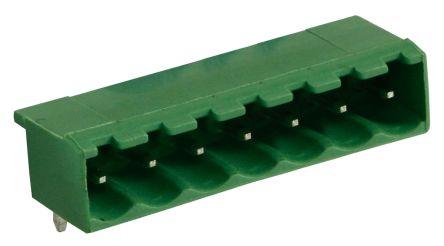 RS PRO , 7 Way, 1 Row, Right Angle PCB Terminal Block Header (10)
