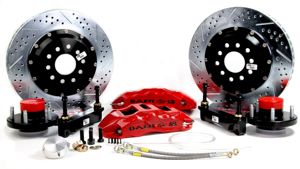 Baer Brakes Brake System 15 Inch Front Extreme+ Red 65-66 Ford/RideTech Mustang