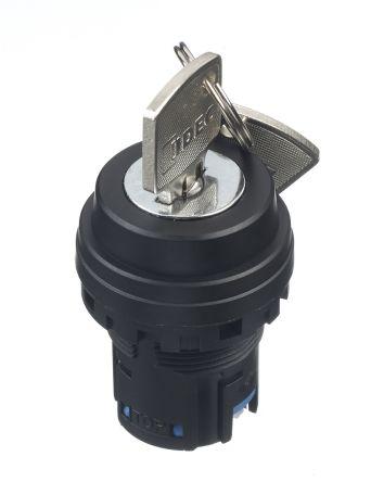 Idec HW Key Switch Head - 3 Position, Latching, 22mm cutout