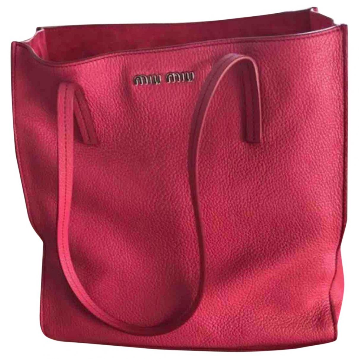 Miu Miu - Sac a main   pour femme en cuir - rose