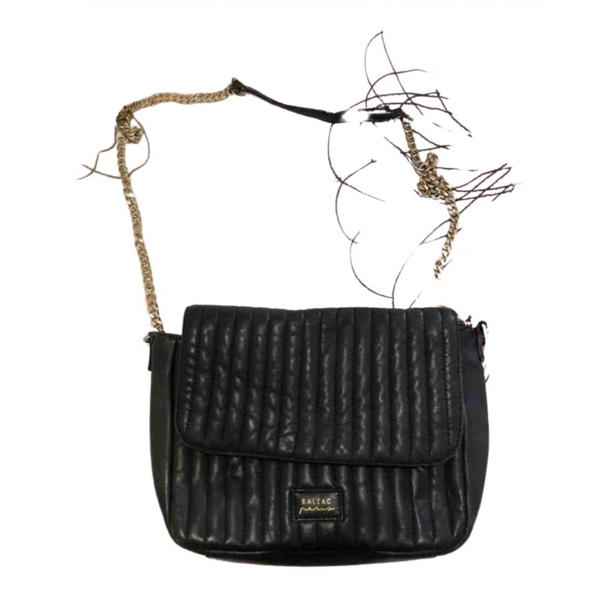 Balzac Paris \N Handtasche in  Schwarz Leder