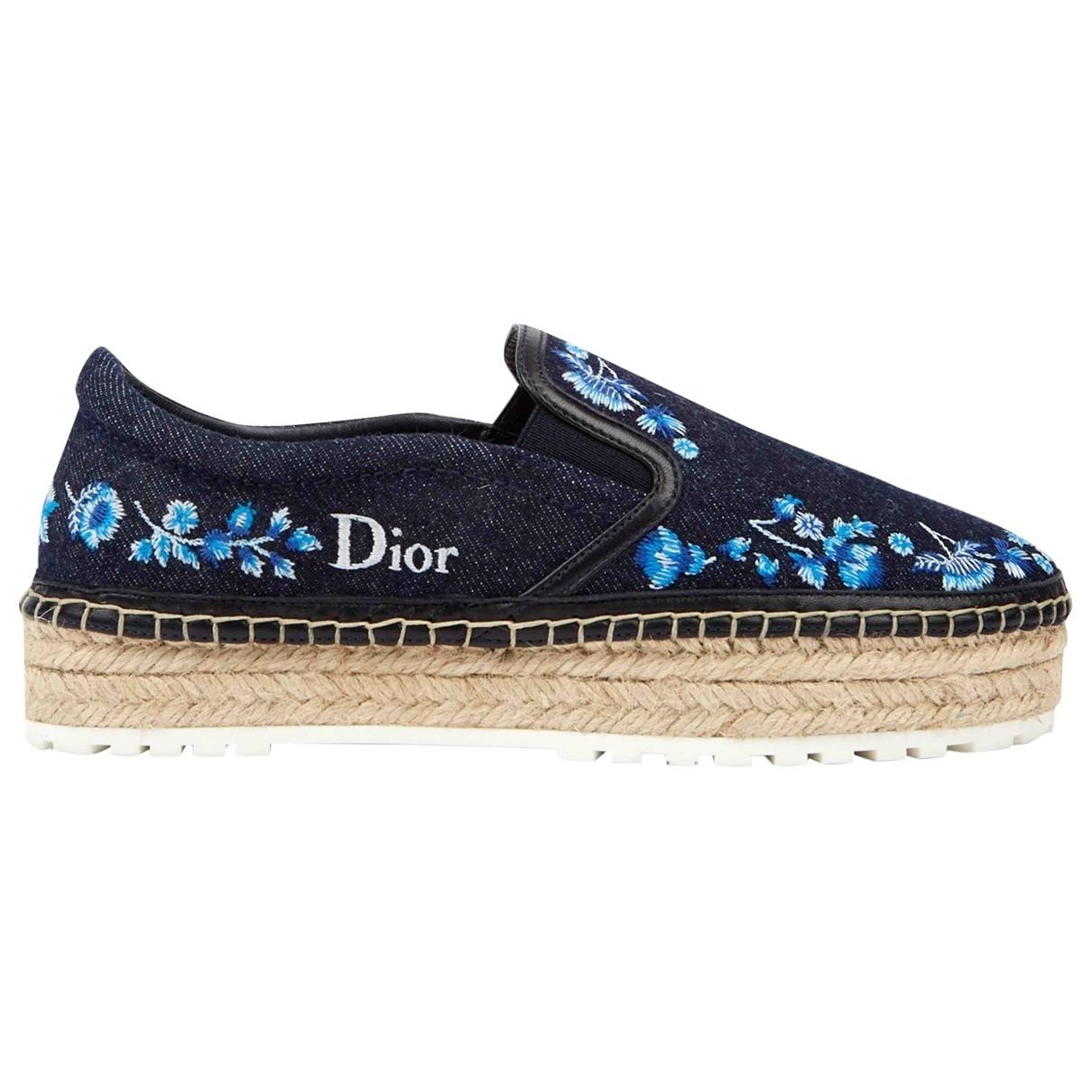 Dior - Espadrilles   pour femme en toile - marine