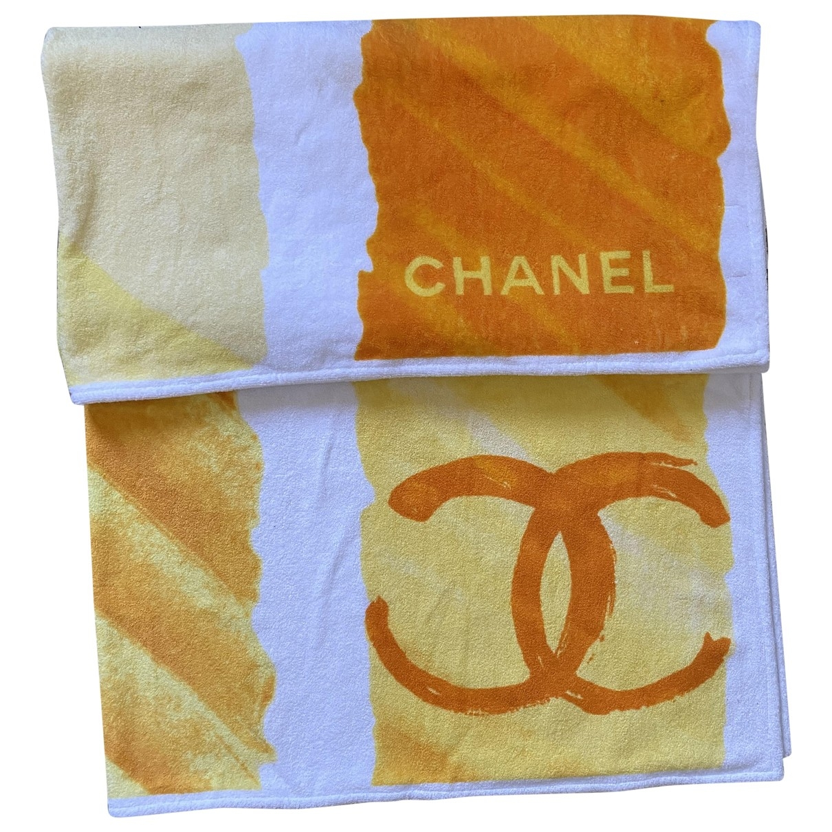 Chanel \N Yellow Sponge Textiles for Life & Living \N