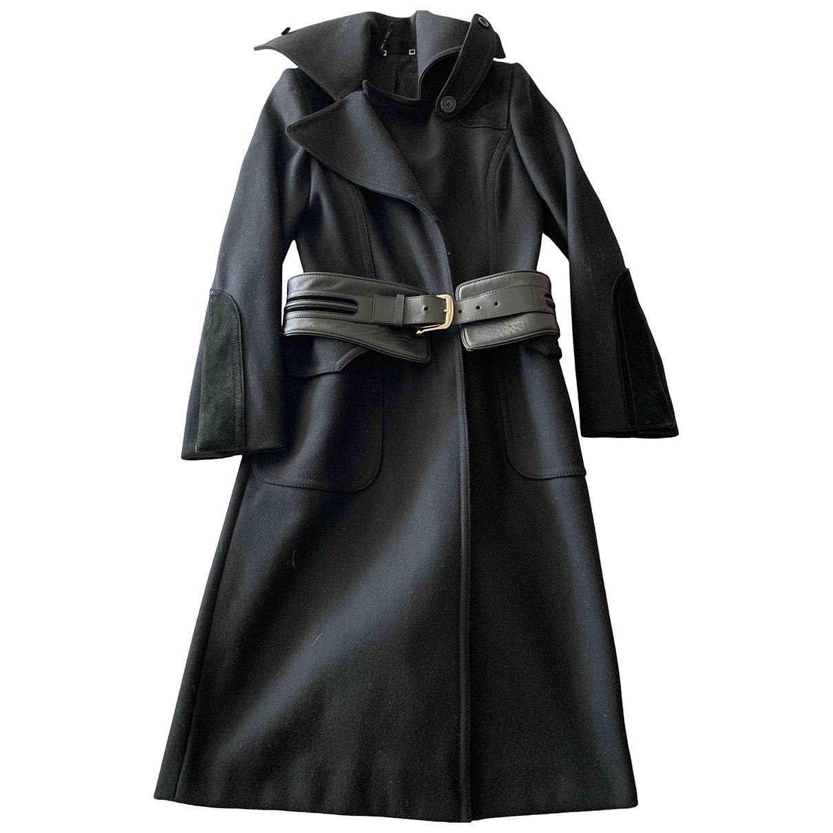 Gucci - Manteau   pour femme en laine - noir