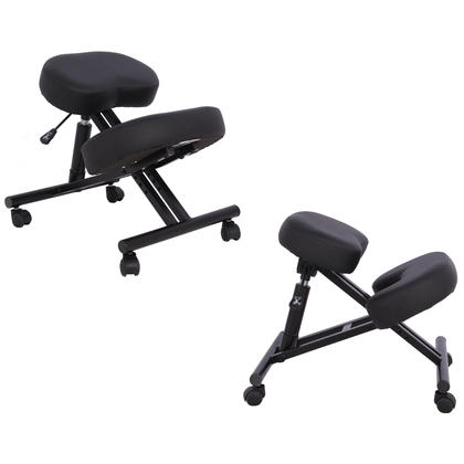 Moustache Ergonomic Kneeling Stool with Adjustable Height and Memory Foam Cushion
