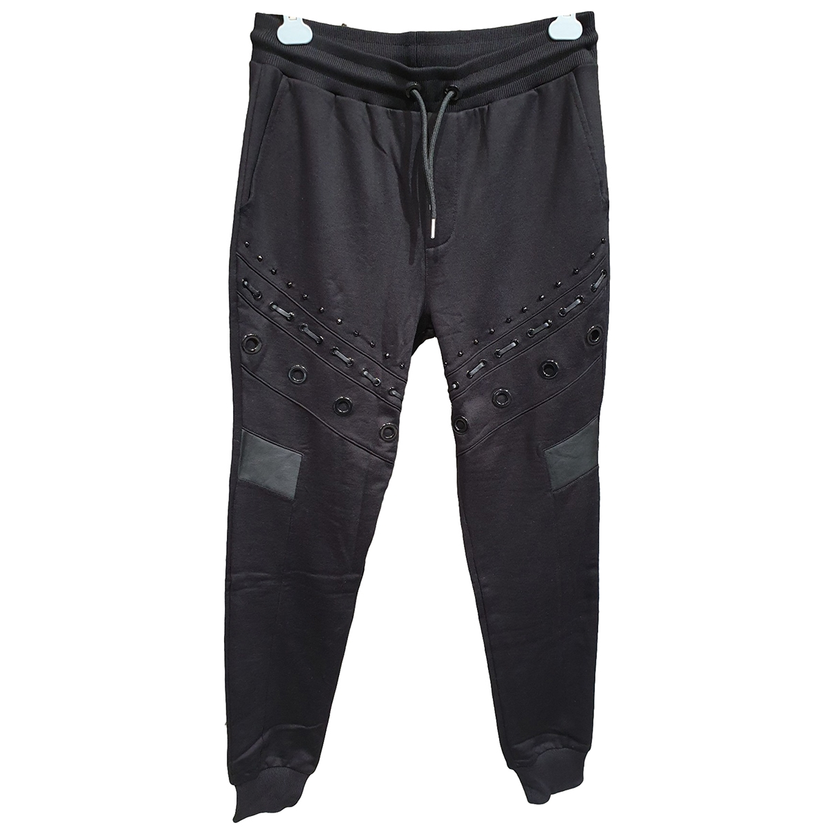 Les Hommes \N Black Cotton Trousers for Men M International